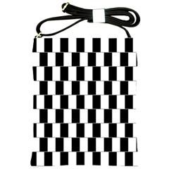 Wallpaper Line Black White Motion Optical Illusion Shoulder Sling Bags