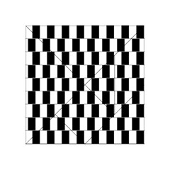Wallpaper Line Black White Motion Optical Illusion Acrylic Tangram Puzzle (4  X 4 )