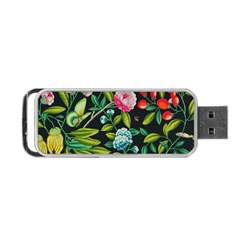 Tropical And Tropical Leaves Bird Portable Usb Flash (two Sides)