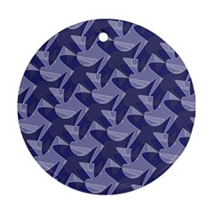 Incid Mono Geometric Shapes Project Blue Ornament (round)