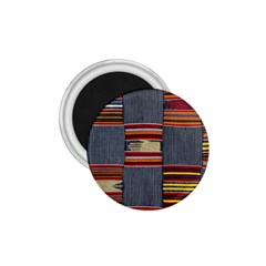Strip Woven Cloth 1 75  Magnets