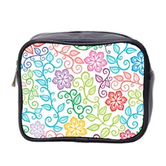 Texture Flowers Floral Seamless Mini Toiletries Bag 2 Side