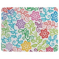 Texture Flowers Floral Seamless Jigsaw Puzzle Photo Stand (Rectangular)