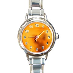 Blurred Glass Effect Round Italian Charm Watch