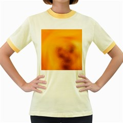 Blurred Glass Effect Women s Fitted Ringer T Shirts