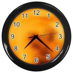 Blurred Glass Effect Wall Clocks (black)