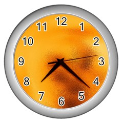 Blurred Glass Effect Wall Clocks (silver)