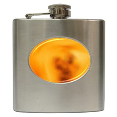 Blurred Glass Effect Hip Flask (6 Oz)