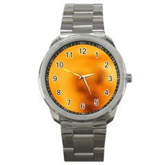 Blurred Glass Effect Sport Metal Watch