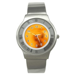 Blurred Glass Effect Stainless Steel Watch