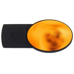 Blurred Glass Effect USB Flash Drive Oval (4 GB)