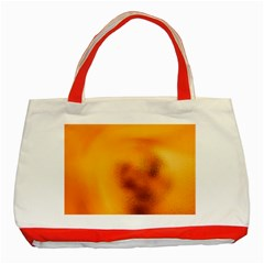 Blurred Glass Effect Classic Tote Bag (red)