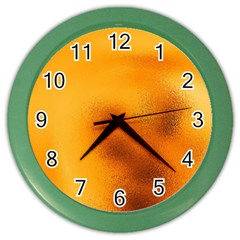 Blurred Glass Effect Color Wall Clocks