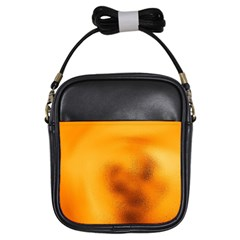 Blurred Glass Effect Girls Sling Bags