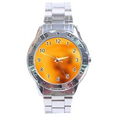 Blurred Glass Effect Stainless Steel Analogue Watch