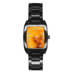 Blurred Glass Effect Stainless Steel Barrel Watch