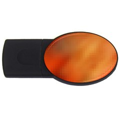 Bright Tech Background USB Flash Drive Oval (1 GB)