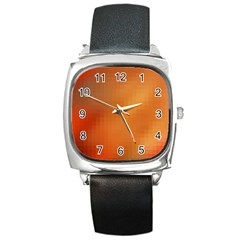 Bright Tech Background Square Metal Watch