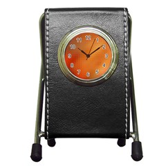 Bright Tech Background Pen Holder Desk Clocks