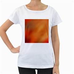 Bright Tech Background Women s Loose Fit T Shirt (white)