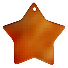 Bright Tech Background Star Ornament (two Sides)