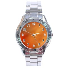 Bright Tech Background Stainless Steel Analogue Watch