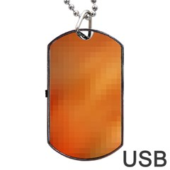 Bright Tech Background Dog Tag Usb Flash (two Sides)