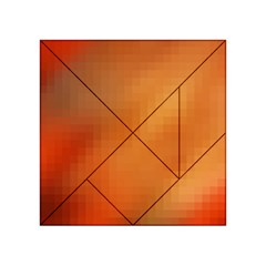 Bright Tech Background Acrylic Tangram Puzzle (4  X 4 )
