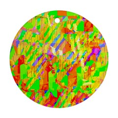 Cheerful Phantasmagoric Pattern Ornament (round)