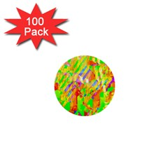 Cheerful Phantasmagoric Pattern 1  Mini Buttons (100 Pack)