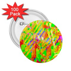 Cheerful Phantasmagoric Pattern 2 25  Buttons (100 Pack)