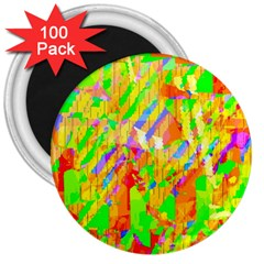 Cheerful Phantasmagoric Pattern 3  Magnets (100 Pack)