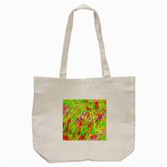 Cheerful Phantasmagoric Pattern Tote Bag (cream)