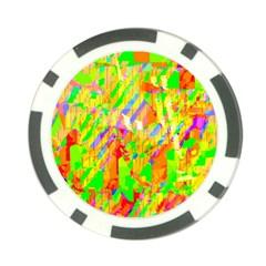 Cheerful Phantasmagoric Pattern Poker Chip Card Guard