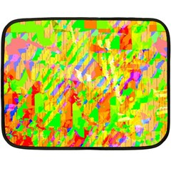 Cheerful Phantasmagoric Pattern Fleece Blanket (mini)