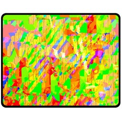 Cheerful Phantasmagoric Pattern Fleece Blanket (Medium)