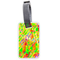 Cheerful Phantasmagoric Pattern Luggage Tags (One Side)