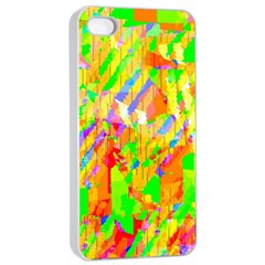 Cheerful Phantasmagoric Pattern Apple Iphone 4/4s Seamless Case (white)