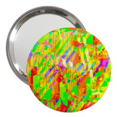 Cheerful Phantasmagoric Pattern 3  Handbag Mirrors