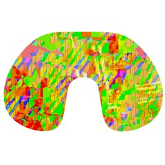 Cheerful Phantasmagoric Pattern Travel Neck Pillows