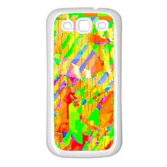 Cheerful Phantasmagoric Pattern Samsung Galaxy S3 Back Case (white)