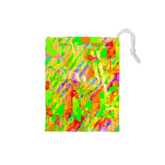 Cheerful Phantasmagoric Pattern Drawstring Pouches (small)