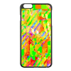 Cheerful Phantasmagoric Pattern Apple Iphone 6 Plus/6s Plus Black Enamel Case
