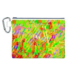 Cheerful Phantasmagoric Pattern Canvas Cosmetic Bag (l)