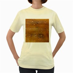 Circuit Board Women s Yellow T Shirt