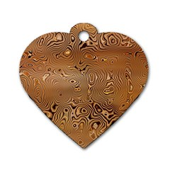 Circuit Board Dog Tag Heart (two Sides)