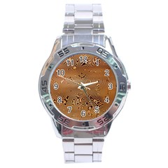 Circuit Board Stainless Steel Analogue Watch