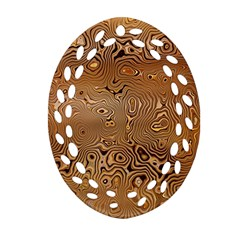Circuit Board Oval Filigree Ornament (two Sides)