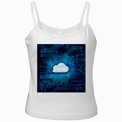Circuit Computer Chip Cloud Security White Spaghetti Tank
