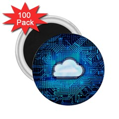 Circuit Computer Chip Cloud Security 2 25  Magnets (100 Pack)